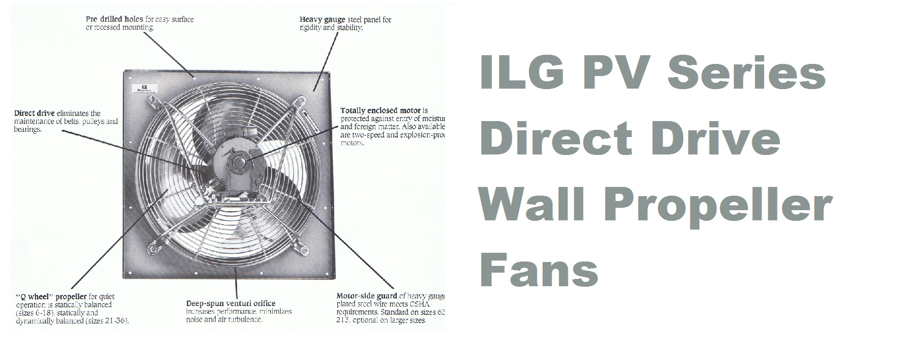 Direct Drive Propeller Fan : Pv ilg direct drive wall exhaust supply fans